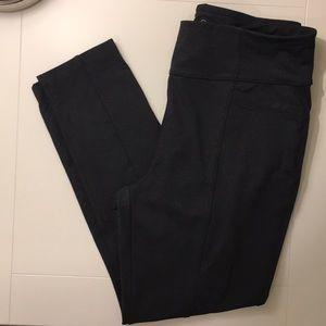 NWOT T by TALBOTS 12-14 P LG BLACK LEGGINGS